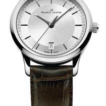 Maurice Lacroix Les Classique Date Quartz Silver Dial, Brown...