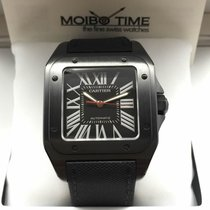 Cartier WSSA0006 Santos 100 XL Large Size ADLC Carbon [NEW]