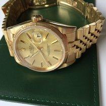 "Rolex Datejust 18K, Massiv Gold ""Borke"". Limited Edition."