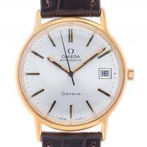 Omega Genevé Gelbgold Automatik Armband Leder 34mm Ref.166.016...