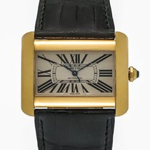 Cartier Tank Divan 18K Yellow Gold Large Automatic Men's Watch...