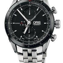 Oris Artix GT Chronograph, Black Dial, Steel Bracelet