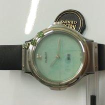 Hublot MDM Flower Green Dial Stainless Steel Watch 1420.1