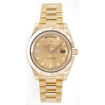 Rolex Day-Date II 218238 18K Yellow Gold 41MM Champagne...