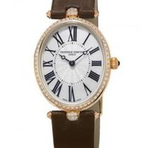Frederique Constant Classic Art Deco 18k Rose Gold Diamond...