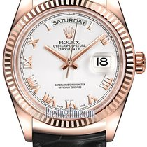 Ρολεξ (Rolex) Day-Date 36mm Everose Gold Fluted Bezel 118135...