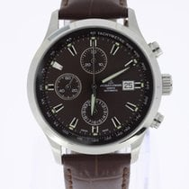 Jacques Lemans Automatic Chronograph 7750 brown dial NEW OLD...