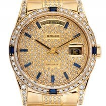 Ρολεξ (Rolex) Day Date Custom Gelbgold Full Diamond Saphir...