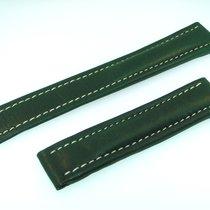 百年靈 (Breitling) Band 18mm Kalb Grün Green Verde Calf Strap Für...