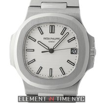 Patek Philippe Nautilus Stainless Steel 40mm White Dial