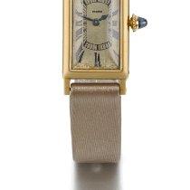 Cartier | A Yellow Gold Rectangular Wristwatch Case Cc 24062...