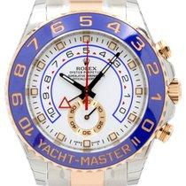 Rolex Yacht-Master II 116681 Blue 18k Rose Gold Ceramic...