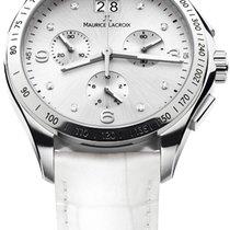 Maurice Lacroix Miros Chronographe Ladies White Dial, Diamond...
