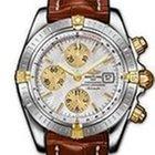 Breitling Chronomat Evolution Gold Steel Silver Dial 44 mm