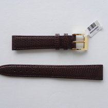 Gucci BROWN LEATHER SNAKESKIN STRAP 16MM