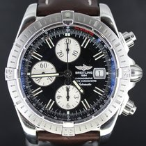 Breitling Chronomat Evolution Steel,Brown Strap, 43MM Full Set...