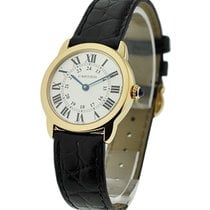 Cartier W6700455 Ronde Solo small size - Yellow Gold on Strap...