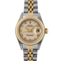 Rolex Datejust Ladies Steel & Gold, Cream Pyramid Dial...