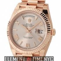 Rolex Day-Date 40 18k Rose Gold President 40mm Sundust Roman Dial