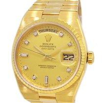 Rolex 18K Gold 19018A Oyster Quartz Day-Date, Original Diamond...