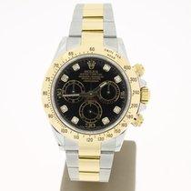 Rolex Daytona Steel/Gold BlackDIAMOND Dial (B&P2012) MINT