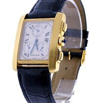 Cartier W5000556 blu Tank Francaise Chronograph on Strap -...