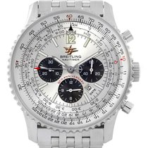 Breitling Navitimer 50th Anniversary Silver Dial Mens Watch...