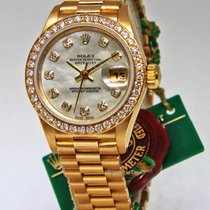 Rolex Datejust 18k Yellow Gold Factory Diamond MOP Ladies...