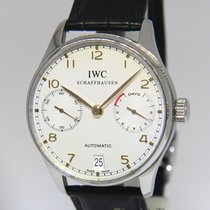 IWC Portuguese 7 Day Power Reserve Steel Automatic Mens Watch...