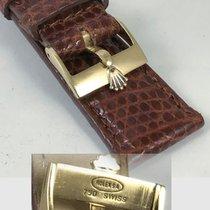 Ρολεξ (Rolex) ROLEX Style 18k GOLD Buckle Cognac Color Genuine...
