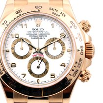 Rolex 18K Yellow Gold Daytona White Dial - 116518 Model MINT