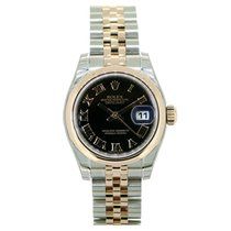 Rolex Lady Datejust 179161 Black Roman Dial 26mm