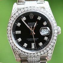 Rolex Mens Datejust Watch 116200 Stainless Steel Diamond Dial...