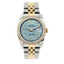 Rolex Datejust Men's 36mm Blue Jubilee Dial Yellow Gold...