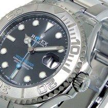 Rolex 37 Mm 268622 Steel Platinum Yachtmaster Dark Rhodium...