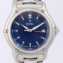 Ebel 1911 blue Dial Lady Steel B+P Top Klassiker blau