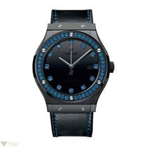 Hublot Classic Fusion Automatic Shiny Ceramic Blue Ladies Watch