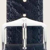 Hirsch Uhrenarmband Leder Highland schwarz M 04302050-2-16 16mm