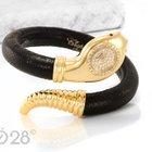 Chopard Snake Watch 10/5226 Gelbgold Lederarmreif Brillanten...