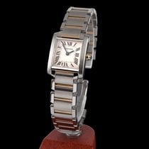 Cartier tank francaise steel and gold quartz lady