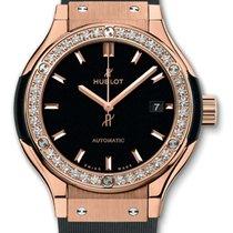 Hublot Classic Fusion 33mm King Gold Diamonds Automatic Watch