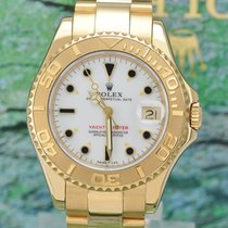 Rolex Yachtmaster Medium 18k Gold 68628
