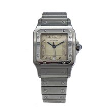 Cartier SANTOS 'Galbee' S/Steel Creamy Roman Dial 30mm...