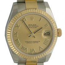 Rolex Datejust Medium 31mm Stahl/Gelbgold Oyster Armband Ref....