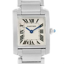 Cartier Tank Francaise Small Ladies Silver Dial Watch W51008q3