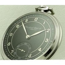 IWC | Pocket Watch Stainless Steel Black Dial, Made 1930's