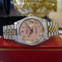 Rolex Oyster Perpetual Date Diamond Dial & Bezel Yellow...