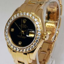 Rolex Pearlmaster Diamond Bezel/Dial 18k Yellow Gold Ladies...