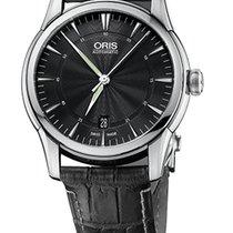 Oris Artelier Date Black Dial Black Crocodile Leather