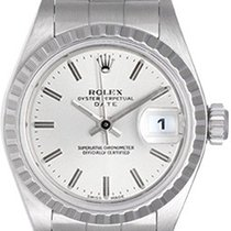 Rolex Ladies Rolex Date Steel Watch 69240 Silver Dial